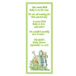 Personalized Peter Rabbit Laminated Bookmark (3 Designs & Colors)