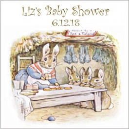 Personalized Peter Rabbit Square Label (Set of 20)