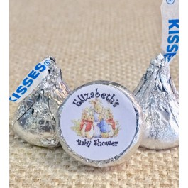 Personalized Peter Rabbit Hershey Kiss Labels 2 Designs (Set of 105)