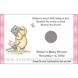 Personalized Baby Shower Scratch & Win Game  -Winnie the Pooh
