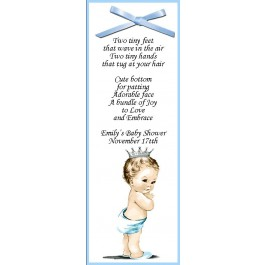 "Vintage ""He's a Prince"" Personalized Baby Shower Bookmark Favor"