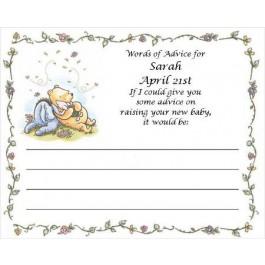 Pooh Advice Card
