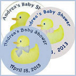 Yellow Ducky Personalized Baby Shower Buttons (Rosemary Exclusive!)