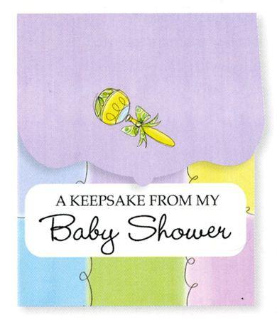 baby shower keepsake registry pastels