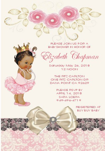 Vintage Little Princess Personalized Invitations