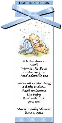 Personalized winnie the pooh baby shower bookmarks more views negle Image collections