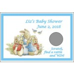Personalized Peter Rabbit Baby Shower Scratch Off Game (Set of 12) (3 Designs & Colors)
