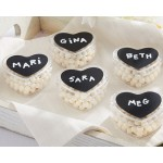 DIY Design Chalk Heart Labels & Heart Favor Box (Set of 12)