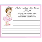 Vintage She's A Princess Baby Shower Advice Card