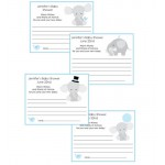 Little Peanut Elephant Baby Shower Advice Card Blue or Pink