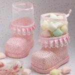 Pink Baby Bootie Mesh Bags 