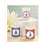 Personalized Baby Shower Nautical Candle