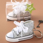 MINI SNEAKER IN THE CLASSIC HI-TOP SHAPE WITH A SPARKLE SILVER GLITTER DESIGN