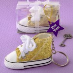 MINI SNEAKER IN THE CLASSIC HI-TOP SHAPE WITH A SPARKLE GOLD GLITTER DESIGN