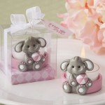 BABY ELEPHANT TEA LIGHT HOLDER IN PINK OR BLUE