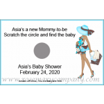 African American Baby Shower Scratch & Win Game - Mommy-To-Be