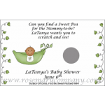 Personalized Baby Shower Scratch & Win Game  African American-Pea Pod (Set of 12)