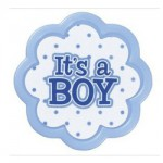 It's a Boy Cupcake Ring (Set of 12)