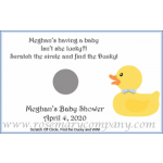 Personalized Baby Shower Scratch &amp; Win Game  -Ducky 