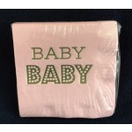 Metallic Gold & Pink BABY Napkins (set of 25)