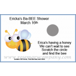 Personalized Ba-BEE Shower Scratch &amp; Win Game