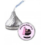 Baby Girl In Bassinette Hershey Kisses Labels (Sheet of 105)