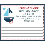 Personalized Nautical Baby Shower Advice Cards