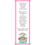 Personalized Noah's Ark Baby Shower Bookmarks