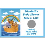 Personalized Baby Shower Scratch & Win Game  -Noah's Ark              Rainbow
