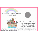 Personalized Baby Shower Scratch &amp; Win Game  -Noah's Ark              Rainbow 