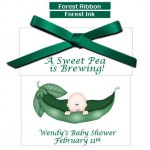 Pea in a Pod Personalized Baby Shower Tea Favors