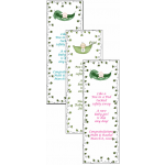 Personalized Pea in a Pod Baby Shower Bookmarks