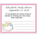 Personalized Peter Rabbit  Baby Shower Advice Card (3 Designs & Colors)