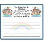 Personalized Noahs Ark Baby Shower Advice Cards