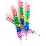 Una dozena de lápices con ositos multicolores