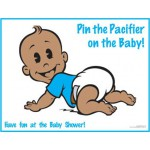 African-American Pin the Pacifier on the Baby Game
