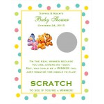Winnie the Baby Pooh and Friends Baby Shower Scratch and Win Cards Games