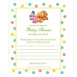 Winnie the Baby Pooh and Friends Baby Shower Advice Cards