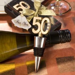 50Th Anniversary Wine Bottle Stopper Favors