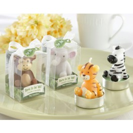 """""""Born to be Wild"""" Animal Candles (Set of 4, Assorted)"""