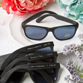 "Personalized ""Very Cool"" Black Sunglasses"