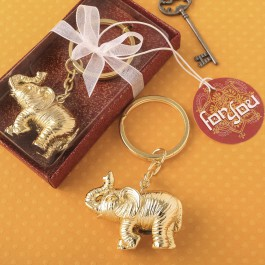 GOLD METAL 3D ELEPHANT KEY CHAIN