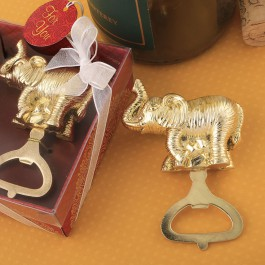 GOLD ELEPHANT BOTTLE OPENER