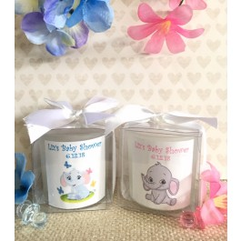Personalized Little Peanut Baby Elephant Candles (3 colors)