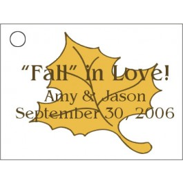 Fall Leaf Favor Card