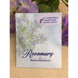 Personalized Rosemary Memorial Packets (Set of 25)