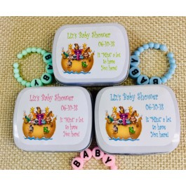 Noah's Ark Personalized Mint Tins (Set of 12) (3 Colors)