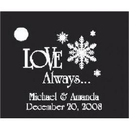 Snowflake Favor Card
