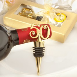 Golden-50 wine bottle stoppers