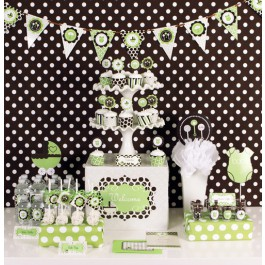 Green Baby Shower Mod Party Kit